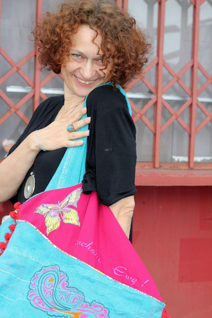 bag BOHO EVE, casual bag, embroidered, kocham Ewę!,