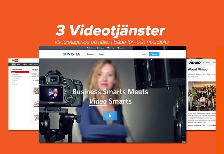 Funderar du på hur du kan använda video i företagets marknadsföring? Här lär du dig grunderna och får information om för- och nackdelar med 3 videotjänster.