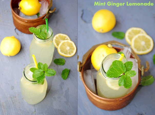 US Masala: Mint Ginger Lemonade