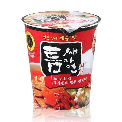 Korean Fire Hot Spicy Instant Noodles Cup Ramen Ramyun Soup [Teumsae] x 3,6,12EA #Paldo #InstantNoodlesSmallCup