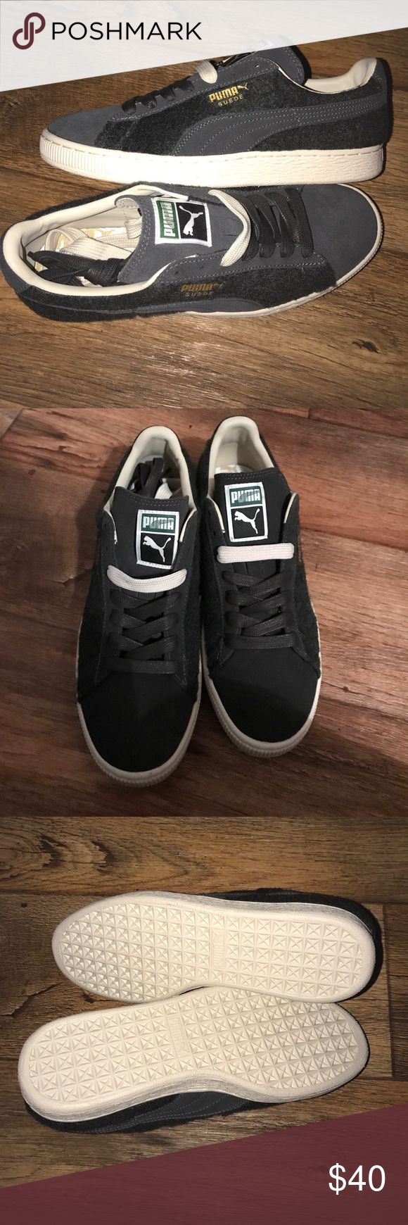 New PUMA SIZE 7🌴🌴🌴🌴 This is brand new pair of PUMA for men size 7. This is suede and grey color and gold accent with two pair of shoe string. Never been used... Puma Shoes Sneakers