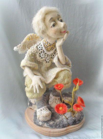 """Коллекционные куклы ручной работы. Ярмарка Мастеров - ручная работа. Купить Кукла из шерсти """"И на камнях растут цветы..."""". Handmade."""