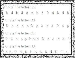 Free Letter B and D discrimination