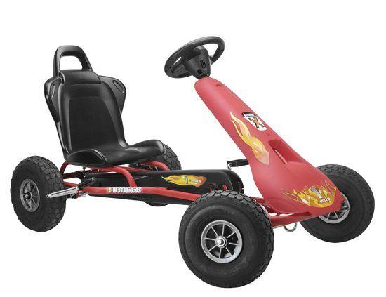 """Kart+""""Air+racer""""+rosu+cu+pedale+este+recomandat+copiilor+cu+varste+intre+5+si+11+ani.+Caracteristici:-+Culoare+neagra,+-+scaun+ajustabil,-+functie+""""free+wheel"""",+-+structura+metalica,..."""