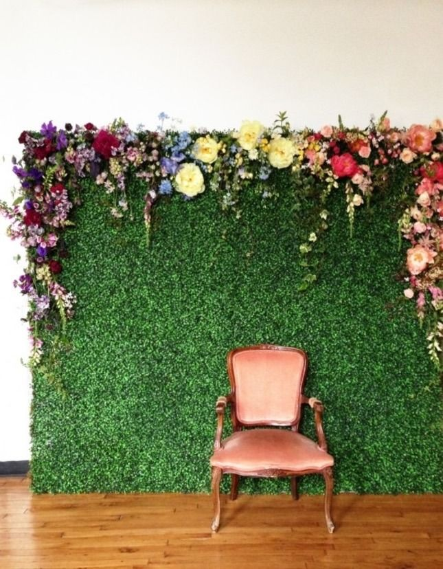 A garden photo backdrop is a must for your next party.