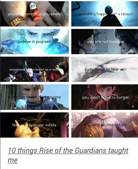 Things Rise of the guardians taught me