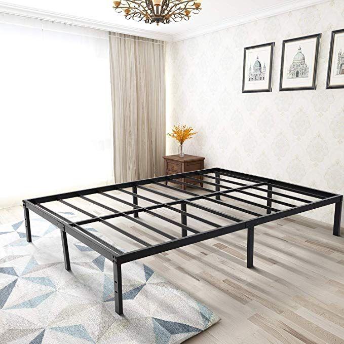 Zizin 14 Inch Steel Platform Bed Frame Easy Assembly Heavy Duty