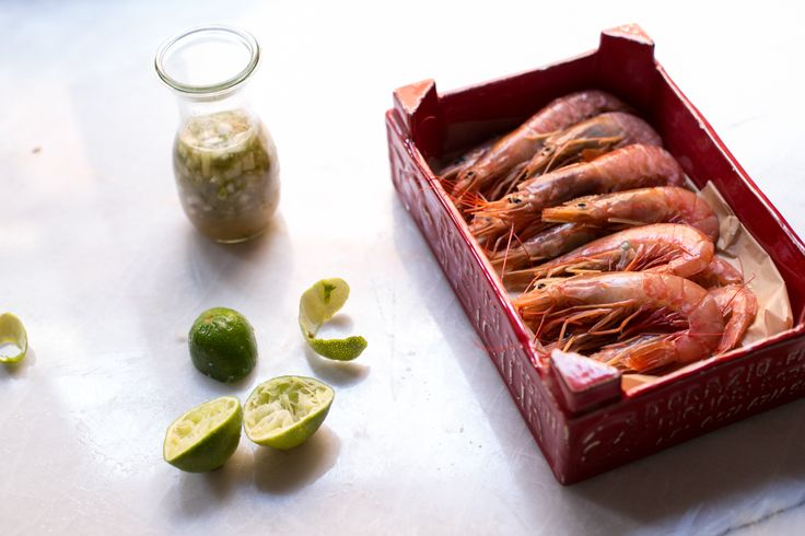 shrimps with tequila and lime sauce