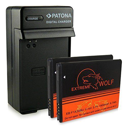 Bundle - Charger + 2x Battery EB-F1A2GBU EBF1A2GBU for Samsung Galaxy EK-GC100 - Samsung Smartphone GT-i9100 Galaxy S2 / SII   GT-i9103 Galaxy R   GT-i9050   GT-i9108 - [ Li-ion; 1800mah; 3.7V ]