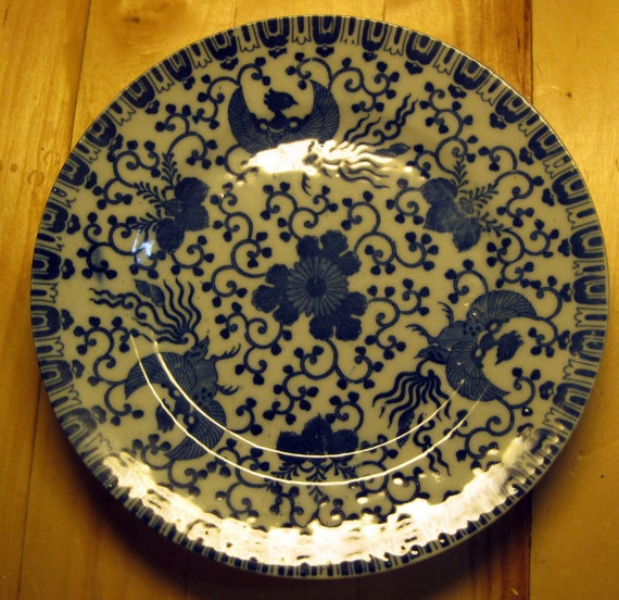 93 Pieces of Flying Phoenix China by bluedogfood on Etsy, $350.00