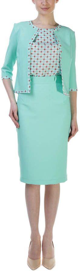 Lila Kass Silk-Blend Skirt Suit #affiliate