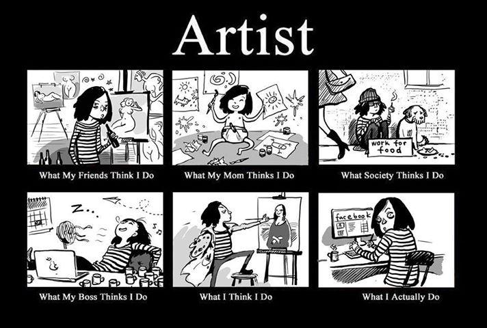 Dure la vie d'artiste!