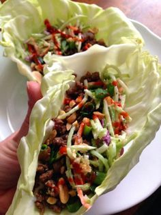 korean beef cabbage tacos with asian broccoli slaw