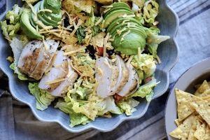 tex-mex-salat med kylling