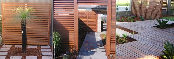 Outdoor wooden privacy screen idea like the edging for Wooden privacy screen ideas
