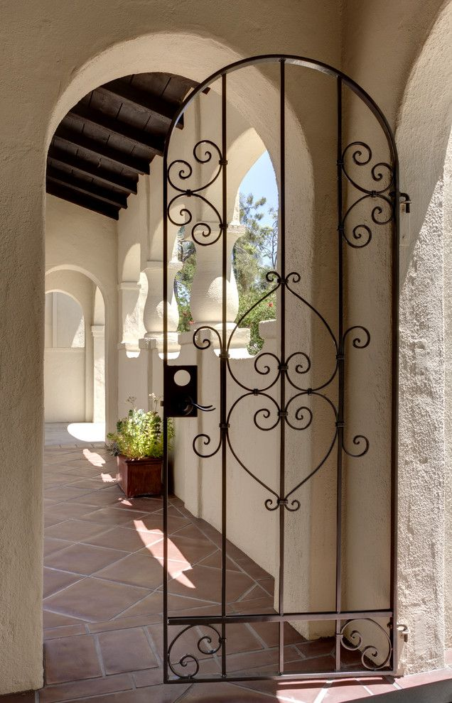 Arresting Iron Gate house designs Mediterranean Exterior Los ...