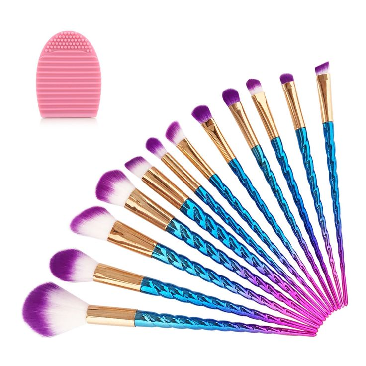 14PCS Makeup Brush Set, LURICO 12PCS Colorful Unicorn Make Up Cosmetic Brush Set Foundation Blending Cosmetic Eyeshadow Brush + 1PC Silicone Brush Wash Egg + 1PC Storage Brush Bag. ❤️ Lurico makeup brushes meet your daily makeup needs such as foundation, contour, BB cream, lip, etc. ❤️ Aluminum ferrule and plating plastic handle, soft synthetic nylon hair is dense, long last using. ❤️ Soft and silky, the brushes are shaped well; Effortlessly blend make-up onto the skin. ❤️ Come with a…