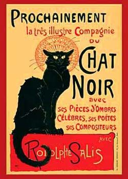 Art Deco print for the lounge?Chat Noir by Theophile Steinlen for Sale - New Zealand Art Prints