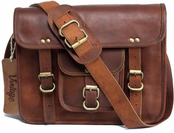 Vintage Darwin Goat Leather Satchel - Vintage Leather