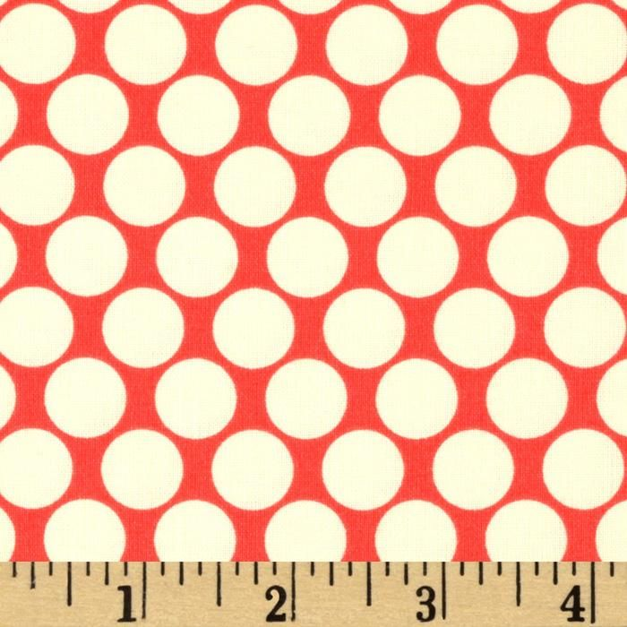Designed by Amy Butler for Westminster Rowan, this cotton print is perfect for quilting, apparel and home decor accents. Colors include cherry and ivory.