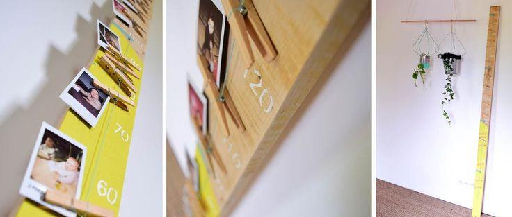 Fabriquez une toise en bois et accrochez-y les photos de vos enfants !  Tuto réalisé par : Danslapampa.fr