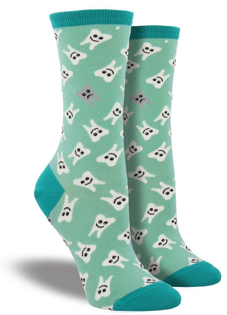 Teeth novelty socks Tatum Dentistry #CharlestonSC #TatumDentistry www.DrTatumSmiles.com