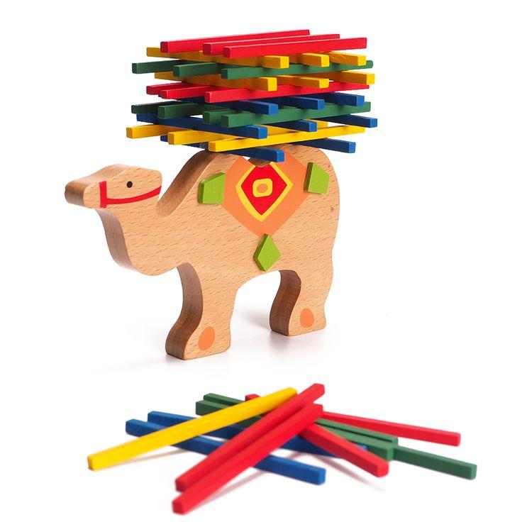 Cute Cartoon Animal Educational Elephant Balancing Blocks Wooden Toys Beech Camel Wood Balance Game Blocks Gift Baby Toys-in Blocks from Toys & Hobbies on Aliexpress.com | Alibaba Group