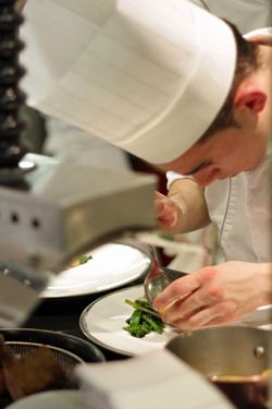 Chef at Alain Ducasse restaurant #cooking #chef #food