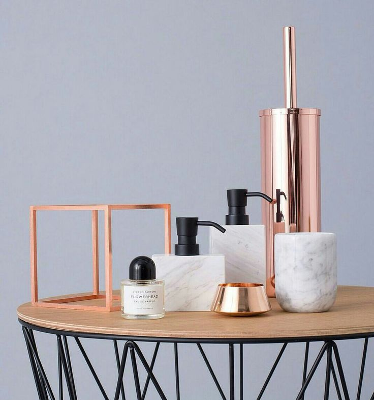 nordic design scandinavian design wooden tops toilet brush danish design bathroom accessories bed bath side tables rose gold - Bathroom Accessories Design