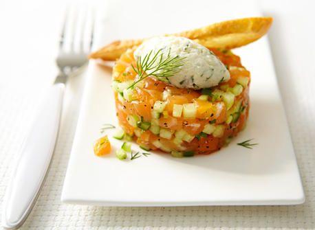 Tartare de saumon au melon et au Mascarpone - Recettes | Plaisirs laitiers - Nourrir votre quotidien