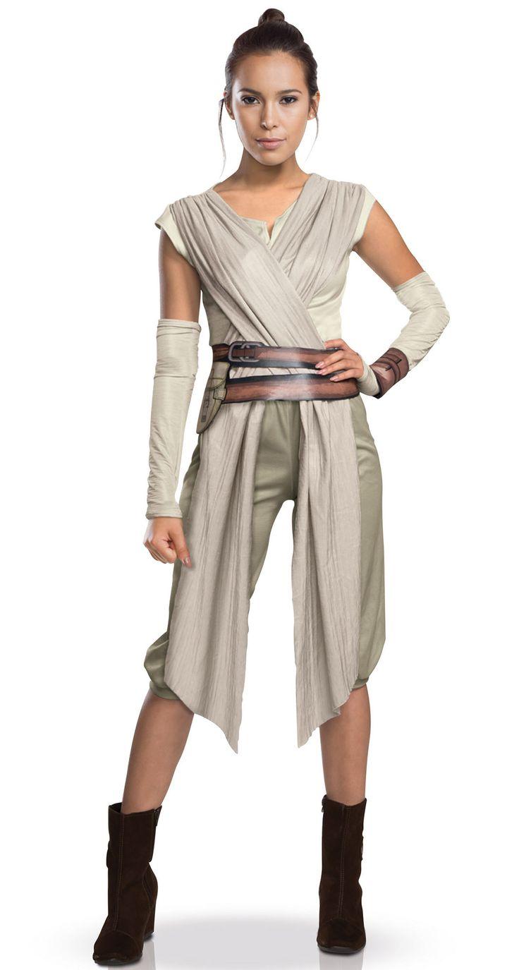 Disfraz adulto Rey Deluxe Star Wars VII™: Este disfraz de Rey para mujer tiene licencia oficialStar Wars VII™. Incluye camiseta, pantalón, mitones, pulsera y cinturón (zapatos no incluidos). La camiseta es blanca...