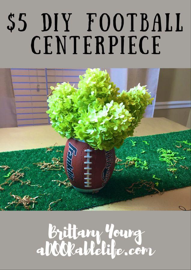 Best diy football centerpiece kits images on pinterest
