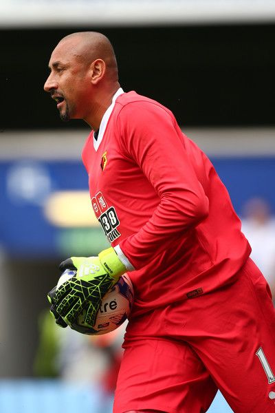 Heurelho Gomes of Watford during the pre season friendly match between Queens Park Rangers and Watford at Loftus Road on July 30, 2016 in London, England.