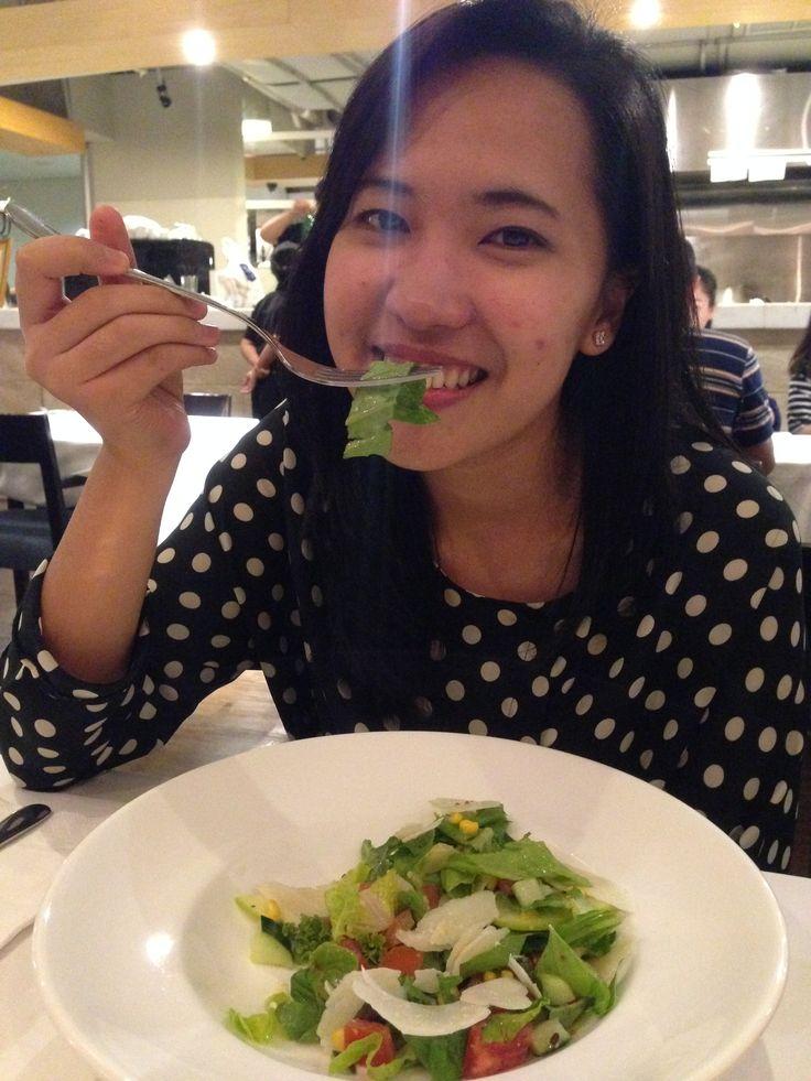 Okina Tambunan at Nest Grill. Fresh Salad