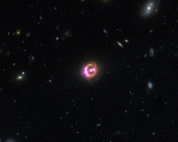 Supermassive Black Hole's Dizzying Spin Is Half The Speed Of Light