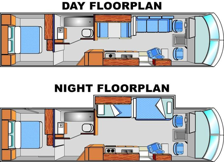 Day/Night Floorplans Camper flooring, Rv floor plans