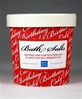 Birthday Cake Bath Salts by Beau Bain. $9.95. Safe & Natural- FREE OF PARABENS, ANIMAL INGREDIENTS, SULFATES, AND UNNECESSARY CHEMICALS. MADE WITH BIODEGRADABLE INGREDIENTS. ECO-FRIENDLY. NOT TESTED ON ANIMALS.. How to use - Simply pour desired amount into your bath tub.. Ingredients -    Atlantic Sea Salt, Epsom Salt, Denstric Salt, Sucrose, and Fragrance. May contain Red 3, Orange 4, Yellow 6, Green 3, Blue 1.. Soak in a scented ocean with our rejuvenating bath salt...