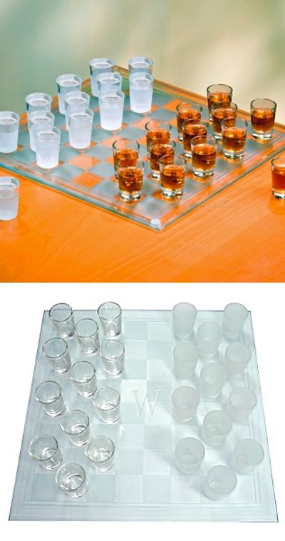 shot glass checkers for date night :)