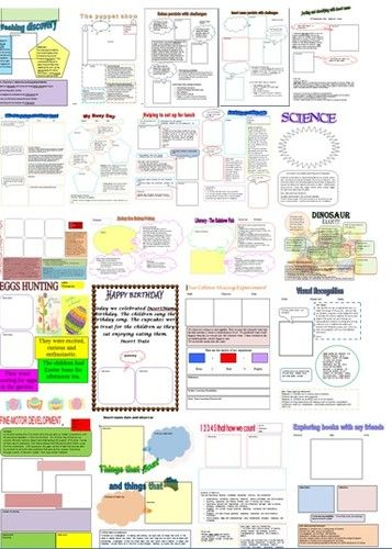104 ready made Microsoft Word Learning Stories Templates linking to EYLF