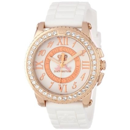 Juicy Couture Women's 1900792 Pedigree White Jelly Strap Watch