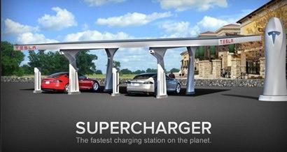 Tesla Motors inauguró sus estaciones de carga super rápida para autos eléctricos a base de energía solar.