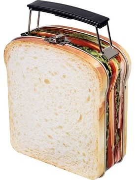 CUTE~Sandwich Lunch Box eclectic food containers and storage
