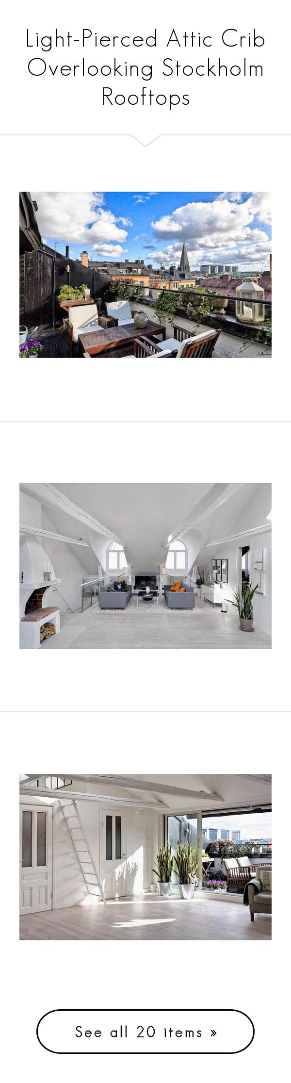 Light-Pierced Attic Crib Overlooking Stockholm Rooftops\