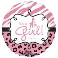 45cm Safari Baby It's a Girl $9.95 (filled with Helium in store) U24559