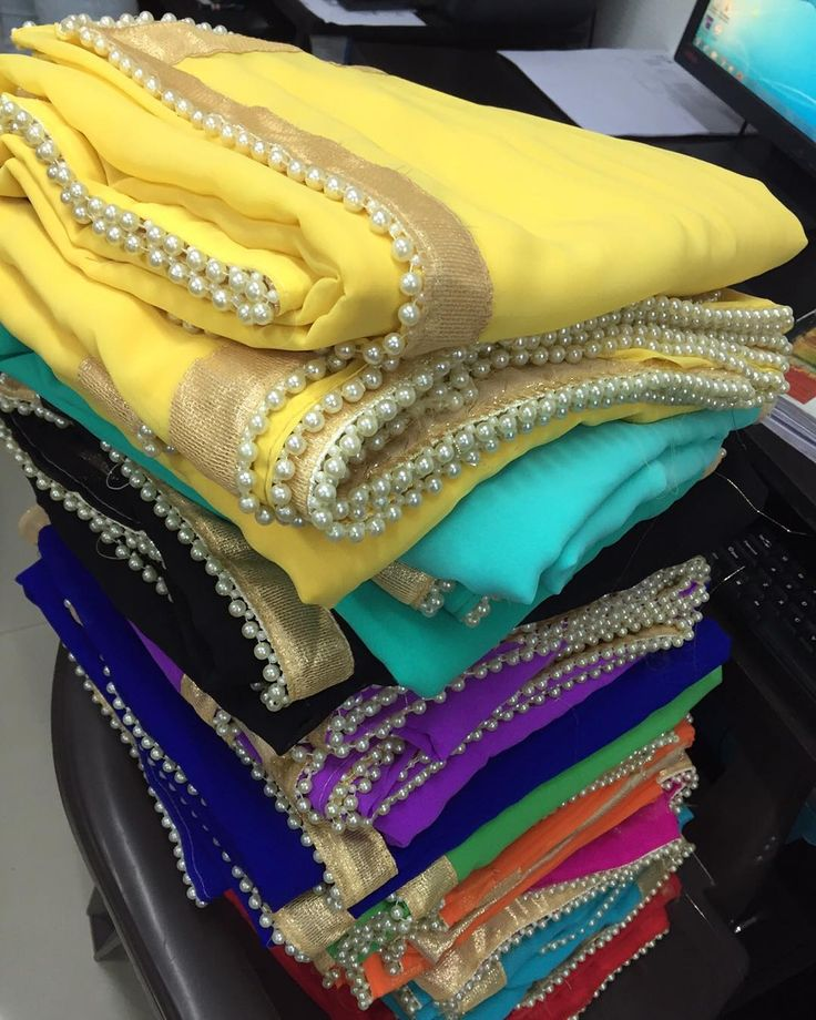 Simple coloured dupattas with pearl lace border