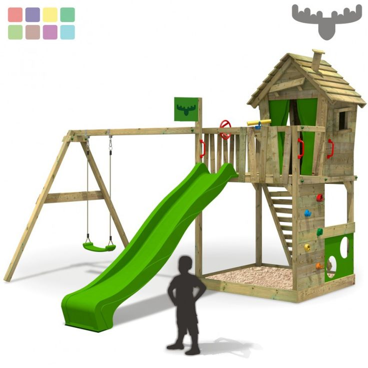 Perfect Climbing frame FATMOOSE HappyHome Hot XXL with swing