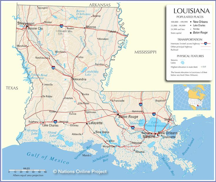 Have been to Visit in New Orleans, Baton Rouge, Lafayette, Alexandria, Slidell, Lake Charles and Shreveport.  I have driven on I 10, I12, I20, I49 and I55.
