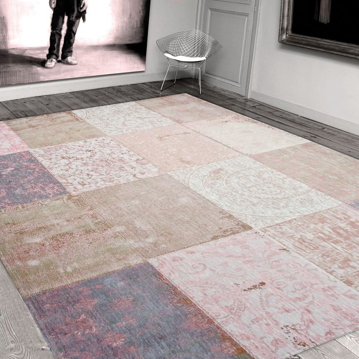Louis De Poortere Rugs Vintage Multi 8238 Bolshoi Pink Free Uk Delivery The Rug Er
