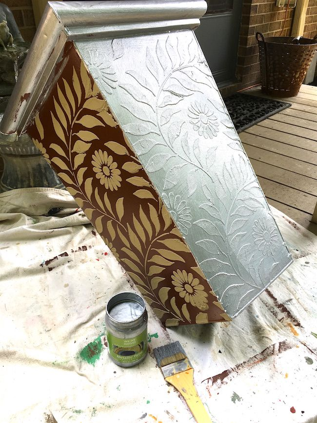 Creating An Embossed Design And Painting With Modern