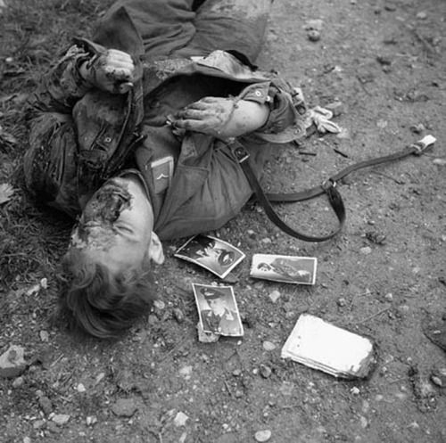 German corporal who was killed during fighting with the Loyal Edmonton Regiment, Ortona, Italy 1943.